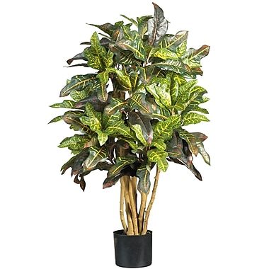 Nearly Natural 5182 3' Croton Silk Tree in Pot