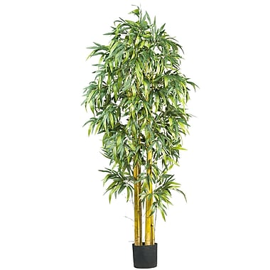 Nearly Natural 5190 6' Big Bamboo Silk Tree in Pot