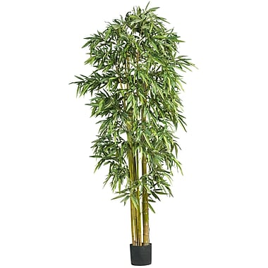 Nearly Natural 5191 7' Big Bamboo Silk Tree in Pot