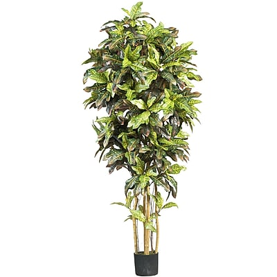 Nearly Natural 5211 6' Croton Silk Tree in Pot
