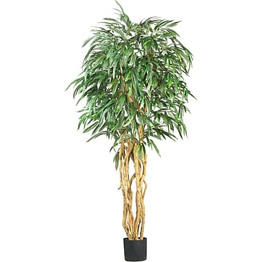 Nearly Natural 5213 6' Weeping Ficus Silk Tree in Pot