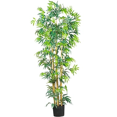 Nearly Natural 5214 6' Bambusa Bamboo Silk Tree in Pot