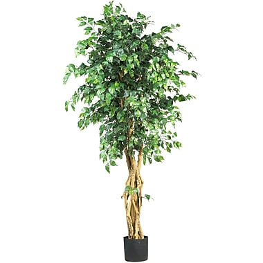 Nearly Natural 5216 6' Palace Syle Ficus Silk Tree in Pot