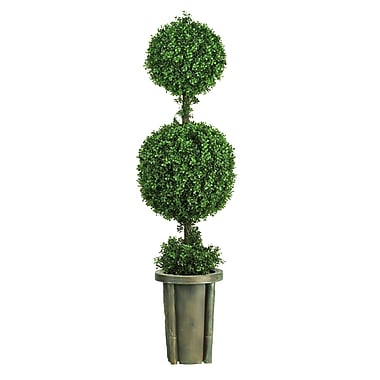 Nearly Natural 5221 5' Leucodendron Floor Plant in Decorative Vase