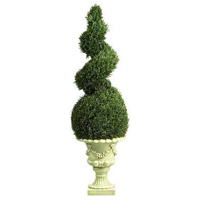Nearly Natural 5222 4' Cedar Floor Plant in Decorative Vase