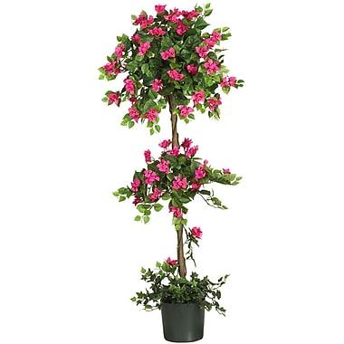 Nearly Natural 5228 5' Mini Bougainvillea Topiary Plant in Pot