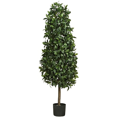 Nearly Natural 5243 5' Sweet Bay Pyramid Tree in Pot
