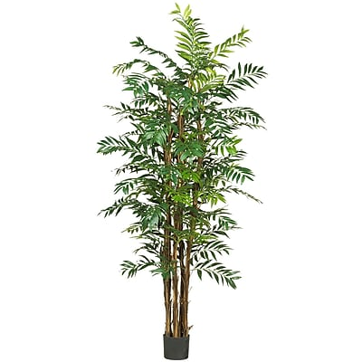 Nearly Natural 5250 7' Bamboo Palm Silk Tree in Pot
