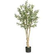 Nearly Natural 5258 5' Olive Silk Tree in Pot