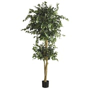 Nearly Natural 5268 6' Double Ball Ficus Tree in Pot