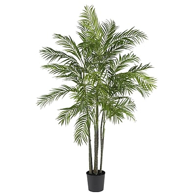 Nearly Natural 5275 6' Areca Palm Silk Tree in Pot