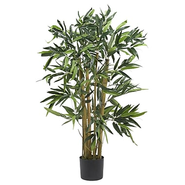 Nearly Natural 5281 3' Biggy Bamboo Silk Tree in Pot