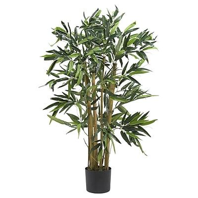 Nearly Natural 5281 3' Biggy Bamboo Silk Tree in Pot
