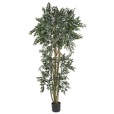 Nearly Natural 5285 6' Green Ash Silk Tree in Pot