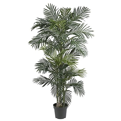 Nearly Natural 5289 Golden Cane Palm Silk Tree in Pot
