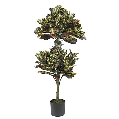 Nearly Natural 5290 Croton Topiary Silk Tree in Pot