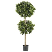 "Nearly Natural 5311 57"" Sweet Bay Topiary Tree in Pot"