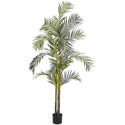 Nearly Natural 5317 7' Areca Palm Silk Tree in Pot