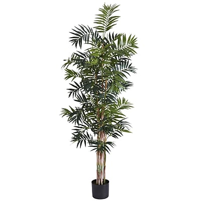 Nearly Natural 5320 6' Bamboo Palm Silk Tree in Pot