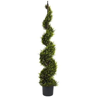 Nearly Natural 5325 5' Cypress Spiral Tree in Pot