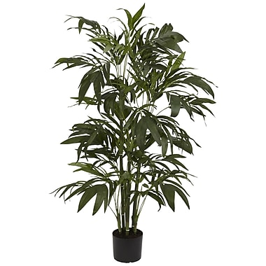 Nearly Natural 5327 4' Bamboo Palm Tree in Pot