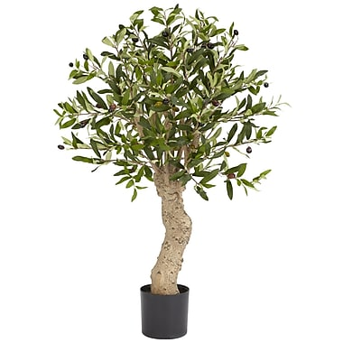 Nearly Natural 5331 Olive Silk Tree in Pot