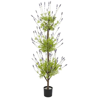 Nearly Natural 5332 4' Lavender Topiary Tree in Pot