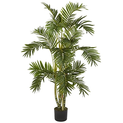 Nearly Natural 5336 4' Areca Palm Silk Tree in Pot