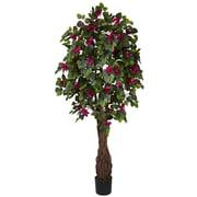 Nearly Natural 5343 6' Viney Bougainvillea Tree in Pot