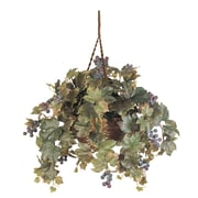 Nearly Natural 6026 Grape Leaf Hanging Plant in Basket