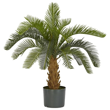 Nearly Natural 6099 Cycas Silk Plant in Pot