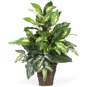 Nearly Natural 6527 Mixed Greens Floor Plant in Decorative Vase