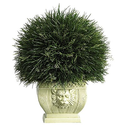 Nearly Natural 6539 Potted Grass Desk Top Plant in Decorative Vase