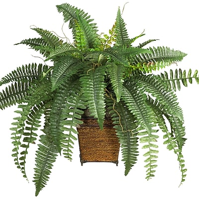 Nearly Natural 6549 Boston Fern Plant in Pot