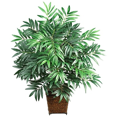 Nearly Natural 6556 Bamboo Palm Floor Plant in Decorative Vase