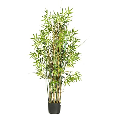 Nearly Natural 6569 5' Bamboo Grass Silk Plant in Pot