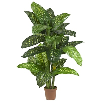 Nearly Natural 6573 5' Dieffenbachia Plant in Pot