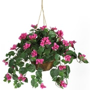 Nearly Natural 6608 Bougainvillea Hanging Plant in Basket