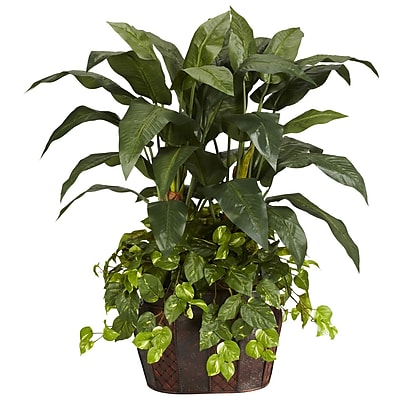 Nearly Natural 6636 4' Double Bird of Paradise Plant in Pot