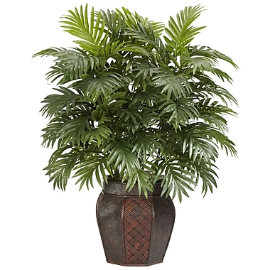 Nearly Natural 6651 Areca Palm Floor Plant in Decorative Vase