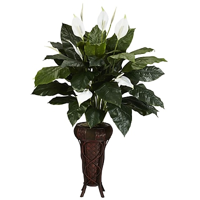 Nearly Natural 6656 Spathyfillium Floor Plant in Decorative Vase