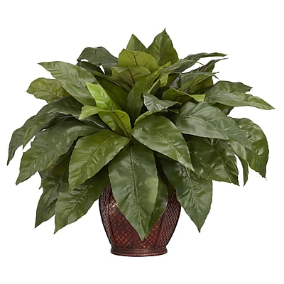Nearly Natural 6659 Birds Nest Fern Silk Plant in Pot