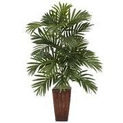 Nearly Natural Areca Palm Desk Top Plant in Decorative Vase (6675)