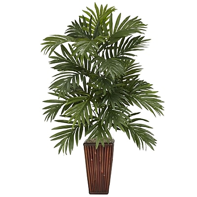 Nearly Natural 6675 Areca Palm Desk Top Plant in Decorative Vase