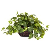 Nearly Natural 6681 Pothos Desk Top Plant in Decorative Vase