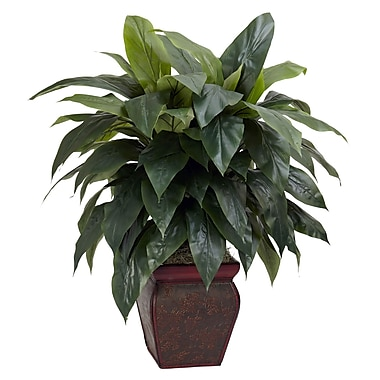 Nearly Natural 6688 Cordyline Floor Plant in Decorative Vase