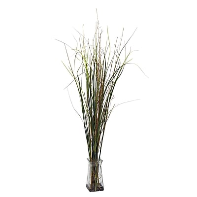 Nearly Natural 6690 Grass and Bamboo Floor Plant in Decorative Vase