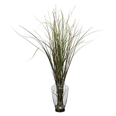Nearly Natural 6701 Grass and Bamboo Floor Plant in Decorative Vase