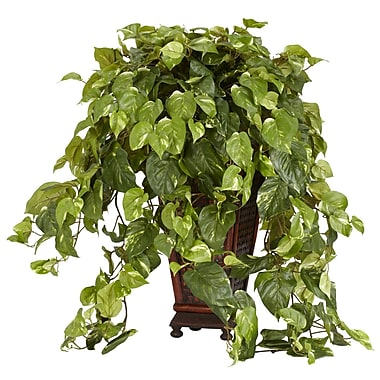 Nearly Natural 6703 Vining Pothos Silk Floor Plant in Decorative Vase