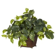 Nearly Natural 6704 Pothos Silk Plant in Planter